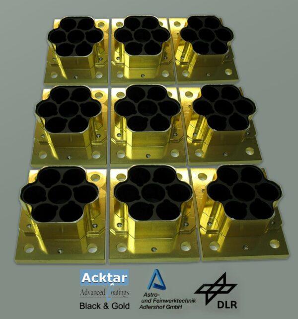 Magic Black coating on gold components