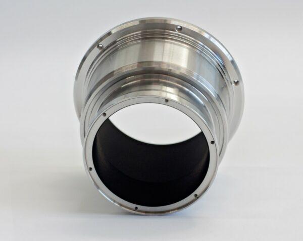 shiny metallic component coated with vacuum black coating