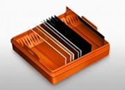 coated glass microarray slides in a box