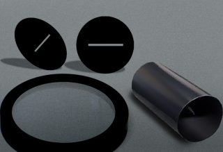 Opto-Mechanical components coated with acktar's advanced black coating