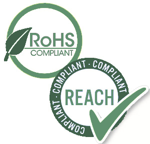 RoHS & REACH Compliant logotypes