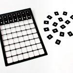 tiny litho black coating labels
