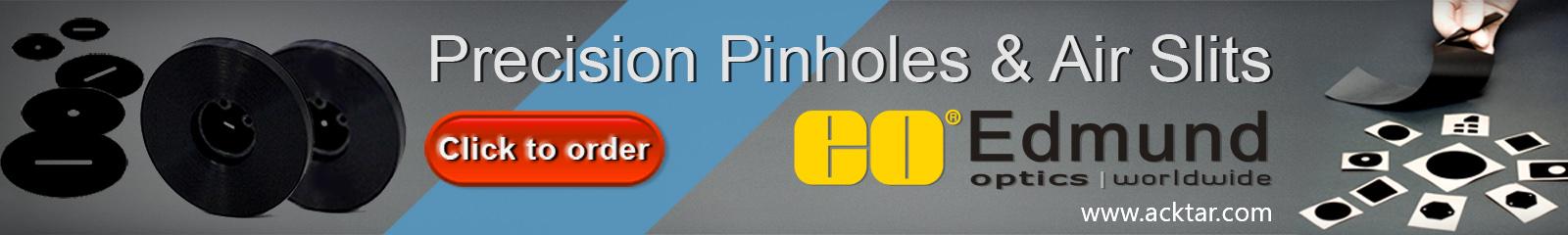 Precision pinholes banner